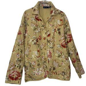 Vintage 90's Cottage Core Quilted Floral Jacket